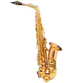 Saxofone Alto Wasm48 Eb Duplo Dourado - Michael