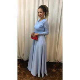 Vestido De Festa Azul Sereniti Madrinha Casamento Formatura