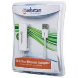 Tarjeta De Red Usb - Ethernet Manhattan, Usb 2.0, Rj-45