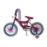 Bicicleta Rodada 16 Macilux Niñas Infantil Rosa Con Blanco