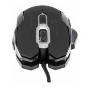 Mouse Optico Gaming 6 Botones Negro Con Luz Led
