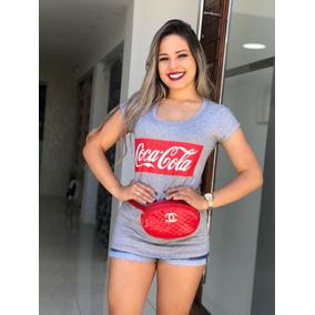 Kit 03 Blusas T-shirt Estampada Choker Flor Pompom Blogueira