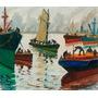 Cuadro De Quinquela Martín Impreso En Canvas 80x68