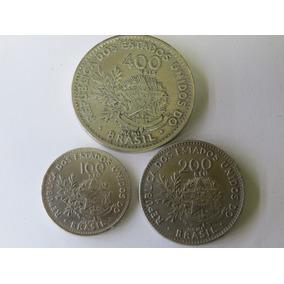 Série Completa Moedas 100, 200 E 400 Réis Mcmi - República