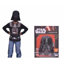Disfraz Star Wars Darth Vader Kit Remera + Accesorio Mascara