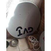 2 Antena Ku 90cm Kit Fixação
