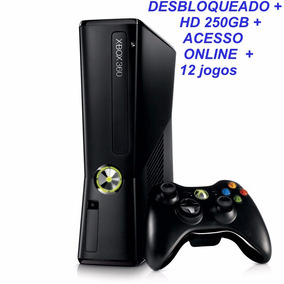 Xbox Slim Desbloqueado + Hd 250gb + Jogos