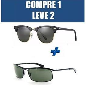 Óculos De Sol Ray Ban Demolidor Preto Rb8012 G 15 Verdes - Óculos no ... d69ca3f638