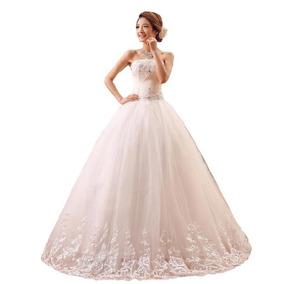 Vestido De Noiva Bordado Princesa Tomara Que Caia Com Renda
