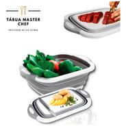 Tábua Bacia Escorredor Cesta Silicone Dobrável 4 Em 1 Chef