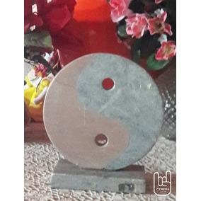 Escultura Yng Yang Japonês Marmore Granito Pedra