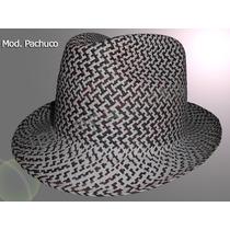 Sombrero Pachuco Fedora Jipijapa (panamá) Ala Corta Colores