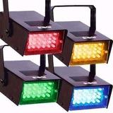 Kit 4 Mini Strobo Led Colorido Iluminação Sequencial 110v