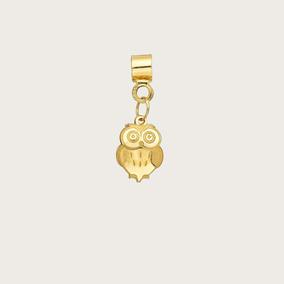 Pingente Coruja Em Ouro 18k (750)