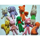 Set De 3 Muñecos Amigurumi Tejido Crochet Niño