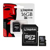 Memoria Micro Sd Kingston Sd 16gb Clase 4 Hc Camara-tablet