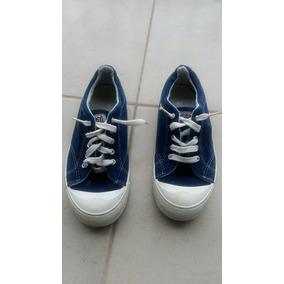 Zapatillas Azules Y Blancas Cheeky 34 Nena O Nene