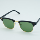 Óculos Quadrado Retro Feminino Clubmaster 3016 Preto Verde