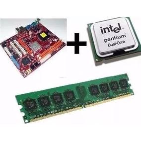 Kit Placa Mãe + Process Intel Dual Core + 1gb Ddr2 + Cooler