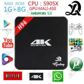H96 4k Smart Tv Box Ram 1g Rom 8g S905 64bit Android 5.1