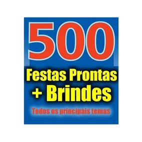 500 Topo De Bolo + 600 Kit Festas Prontas Corte Silhouette