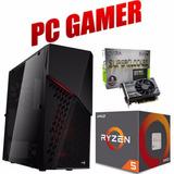 Pc Gamer Ryzen R5 1600, Gtx 1050ti 4gb, 8gb Ram, 1tb