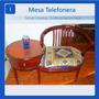 Mesa Telefonera Asiento Mueble De Madera