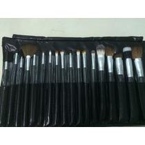 Pincel Maquiagem Linha Profissional Kit C/ 18 - Macrilan Top