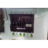 Bodega De Pared Madera Recuperada Estilo Campo 6 Botellas