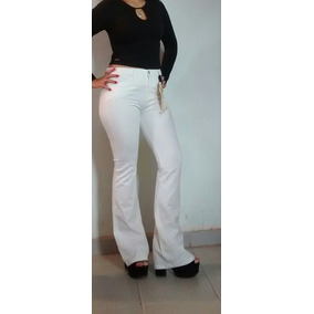 Jeans Oxford Blanco Mujer