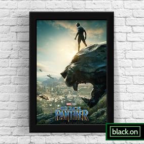 Poster Moldura Quadro Marvel Pantera Negra Filme 30x20cm #6