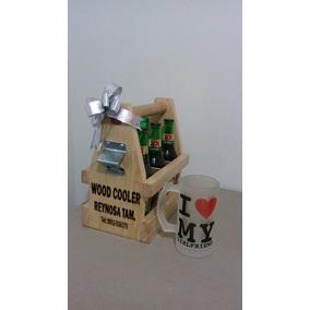 Six De Madera Para Cerveza Personalizado Con Pirograbado