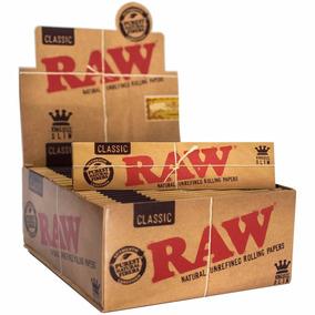 Seda Raw Classic Original King Size Slim - Caixa Com 50