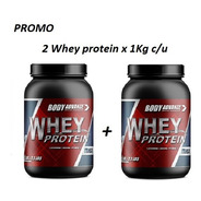 2 Whey Protein 1 Kg C/u. Proteína Pura. Body Advance