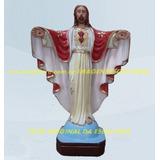 Imagem Jesus Cristo Redentor Rj Roupa Vermelha Estatua 40cm