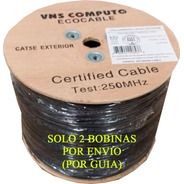 Cable Utp Doble Forro Exterior Cat5e Negro Cal24 305 Mts B03