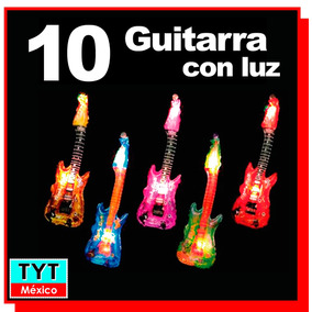 10 Guitarra Inflable Con Luz Led Eventos Fiesta Batucada Dj