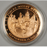 Medalla Conmemorativa Franklin Mint Guerra Mexico City