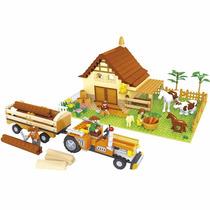 Fazenda Trator Blocos Montar 626 Pçs Ausini Polic 28901 Lego