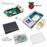 Raspberry Pi 3 B+ (plus), Case, Disipadores, Fuente 5v 2.5a