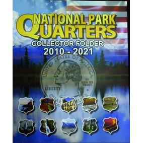 Álbum Moeda Eua Park Quarter Dollar 2010 A 2021 0,25 Cents