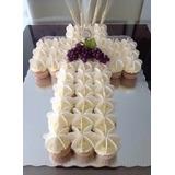Torta-cupckes Impactante!!! Comunion Bautismo!!