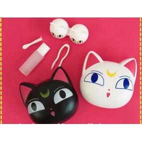 Estuche Kit Lentes De Contacto Gato Sailor Moon Pupilentes