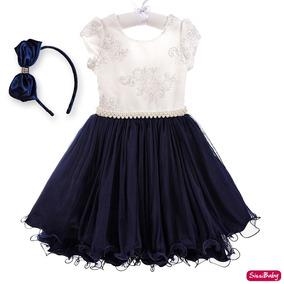 Vestido Infantil Festa Luxo Realeza Daminha Princesa Tiara