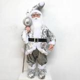 Papai Noel Grande Musical A Corda Lantejoulas Prat...