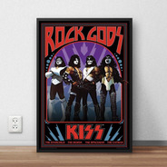 Quadro Decorativo Kiss Poster Premium