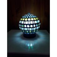 Lampara Velador Luminaria Globo Mosaiquismo Venecitas