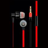 Fone De Ouvido Metal E Silicone Preto / Vermelho Ph154 Pulse