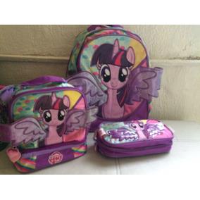 My Little Pony. Set De Tres Piezas Primaria O Kínder
