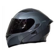 Casco Abatible R7 Racing Unscarred Doble Mica Gris
